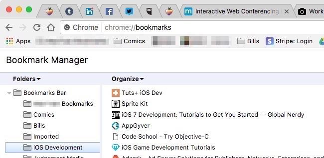 manage browser bookmarks