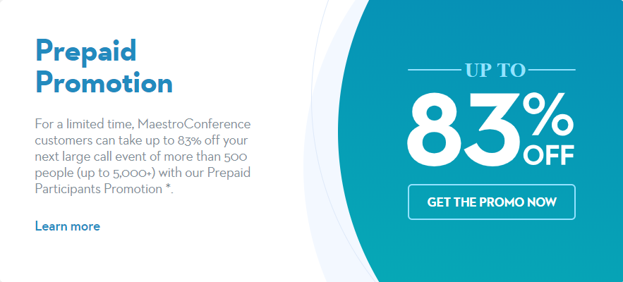 Save up to 83% Off Large Calls with our Prepaid Promotion