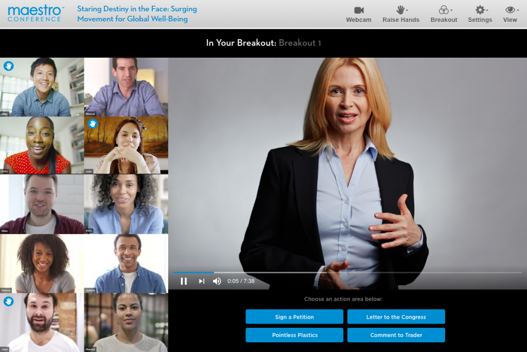 Video Breakout Rooms for Remote Collaboration