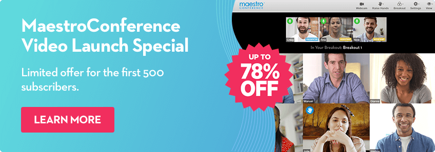 Get up to 78% off the standard price during the MC Video Launch Special