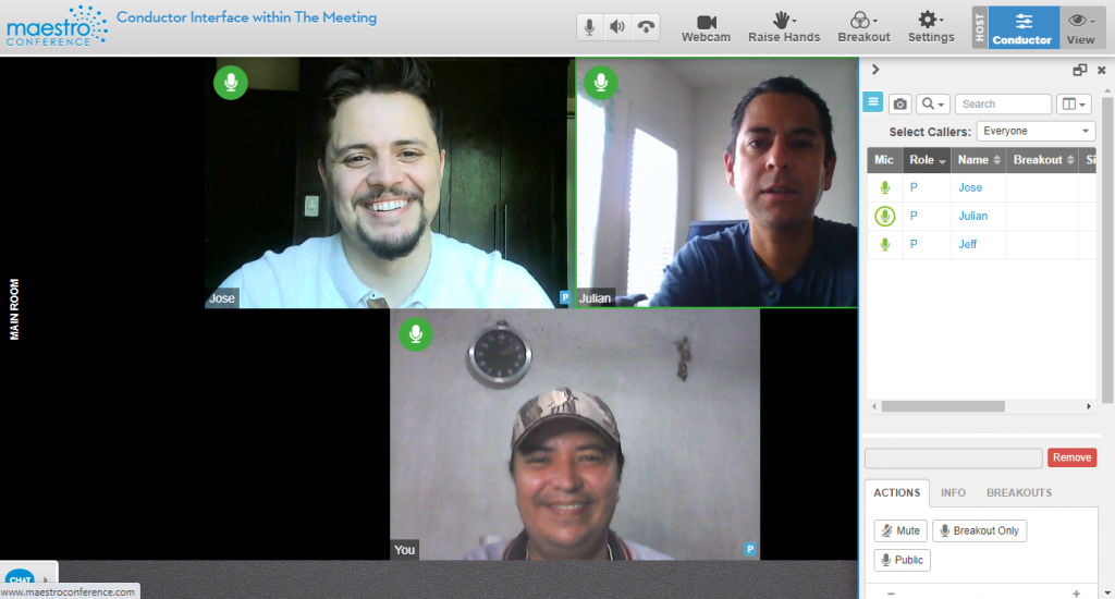 Create better video breakouts directly within the meeting- the Conductor Interface in the Meeting