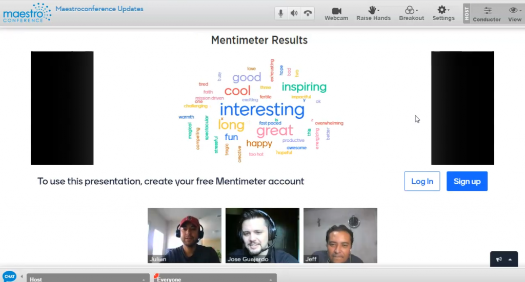 Host better video breakouts by integrating third party, cloud-based applications, such as Mentimeter, within your MaestroConference video event