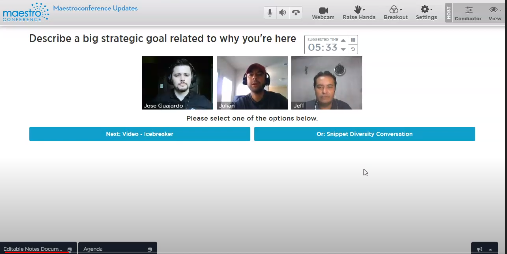 Guide your participants' conversations with visual timers to create better video breakouts